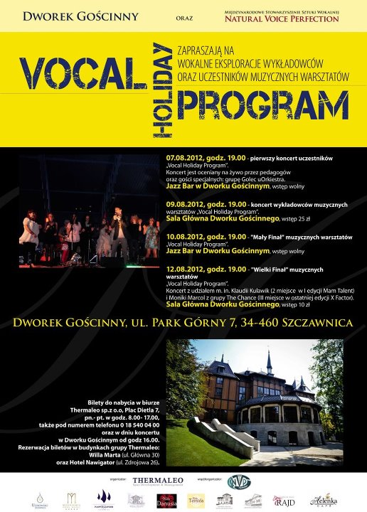 vocal holiday program Szczawnica