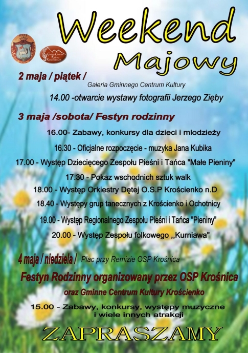 Weekend majowy Kroscienko 2014